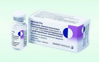 Вакцина Менактра детям: реакция на прививку, отзывы