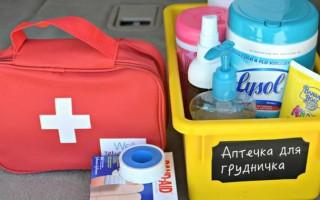 Список необходимого в аптечку для новорожденного