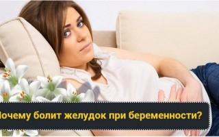 Болит желудок при беременности: причины, лечение