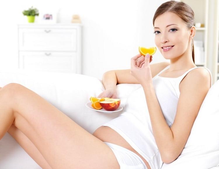 Ваш рацион на таком сроке должен состоять из мяса, фруктов, овощей.