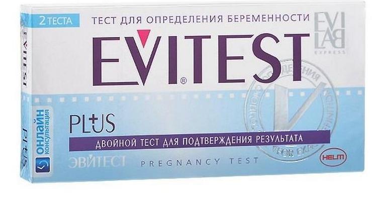 Evitest Plus состоит из двух полосок для подтверждения результата.