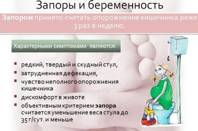 Если запор при беременности что делать