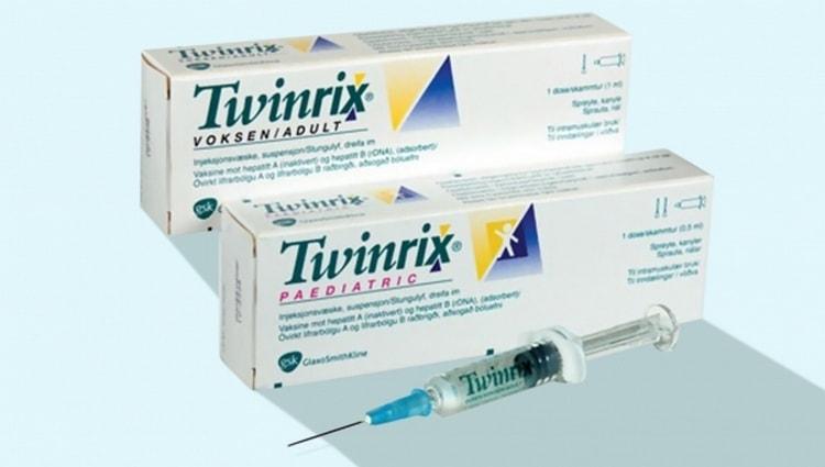 А вот комбинированная вакцина от гепатита типа А и В.