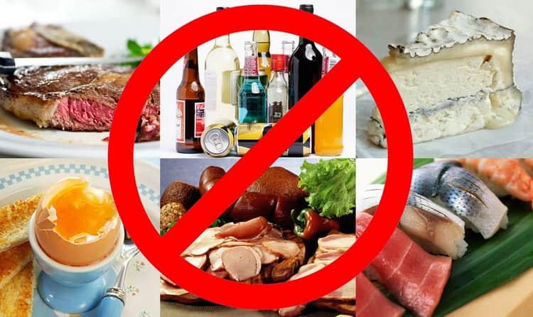 какие продукты не стоит употреблять беременным