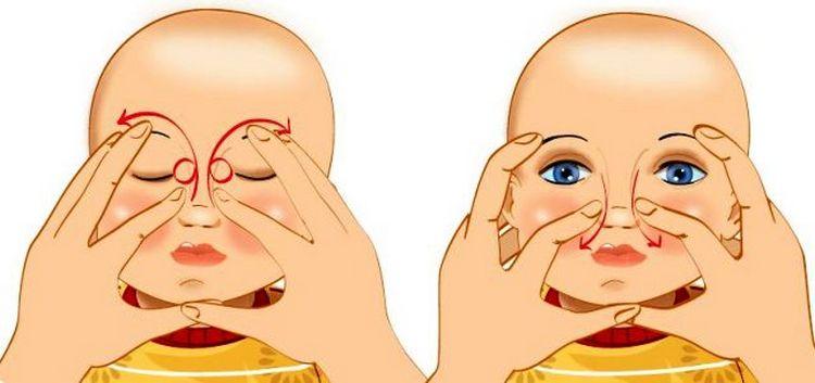 Посмотрите видео о том, как делать массаж слезного канала у новорожденных.