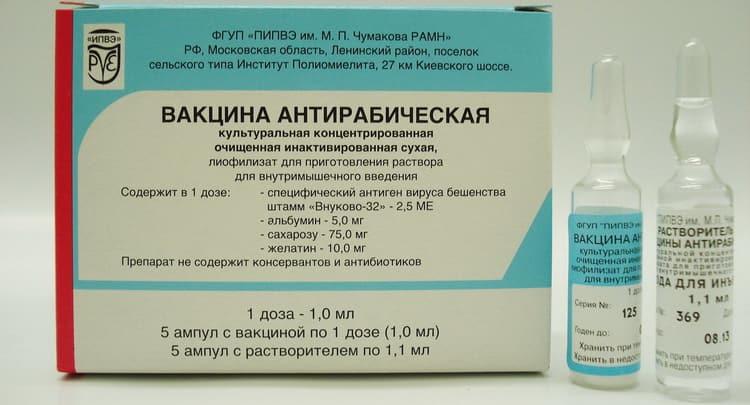 Состав и инструкция по применению антирабической вакцины