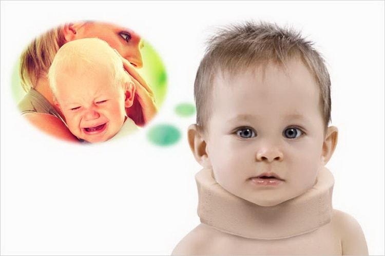 Воротник шанца для новорожденных: размеры