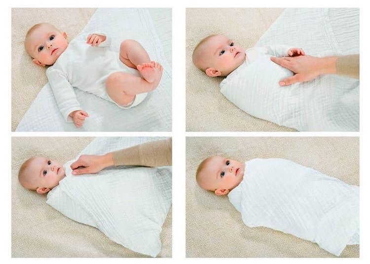 Все о том как пеленать новорожденного пошаговое, видео