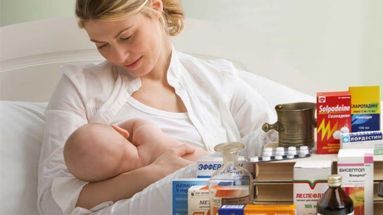 Общие правила приема лекарств при лактации