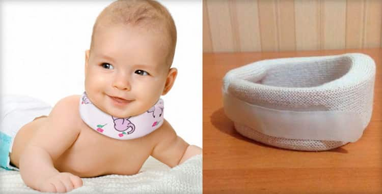 Как использовать воротник шанца для новорожденных