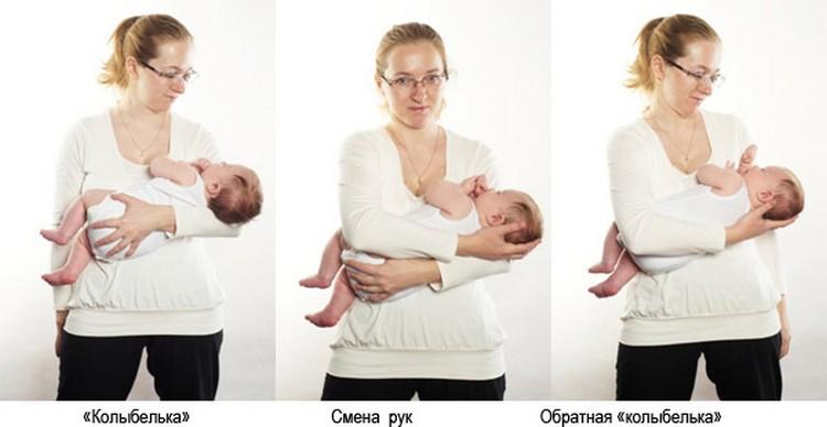 Посмотрите, как правильно держать новорожденного на руках.
