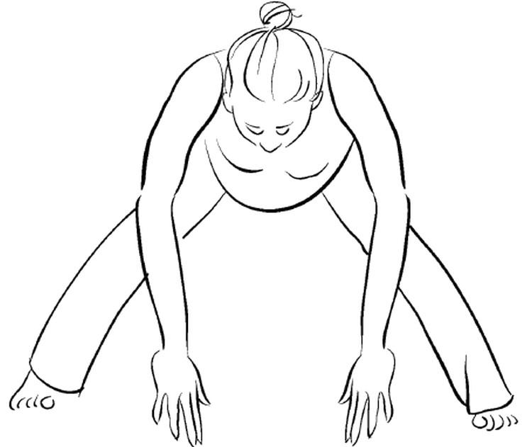 Прасарита Падоттанасана – наклон вперед с широко расставленными ногами