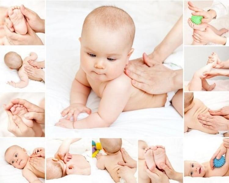 Укрепить позвоночник малыша помогут массажи и специальные упражнения.