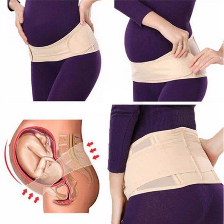 Беременная спортсменка с прессом 33
